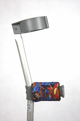Padded Handle Comfy Crutch Covers/pads -  Super Hero Man