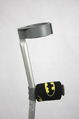Padded Handle Comfy Crutch Covers -  Yellow and Black Superhero