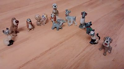 WADE porcelain DISNEY figures FULL SET OF LADY AND THE TRAMP