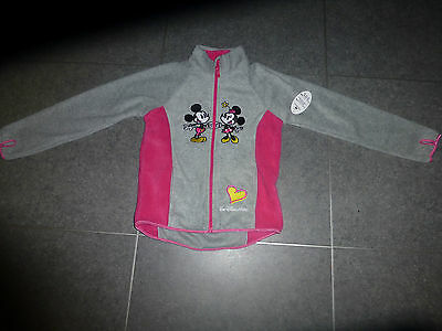 Disney Fleece Zip Up  US M ( 7/8)  Height 119-135cm