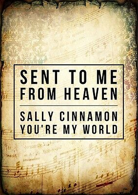 Stone Roses Sally Cinnamon Indie Poster Music Lyric A4 Quote Print Typography