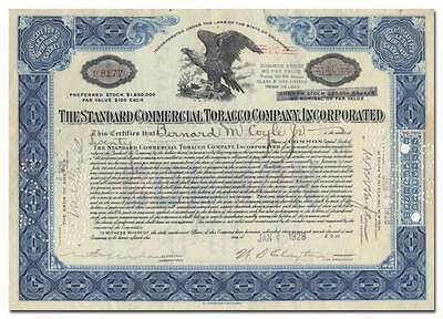 Standard Commercial Tobacco Company, Incorporated Stock Certificate