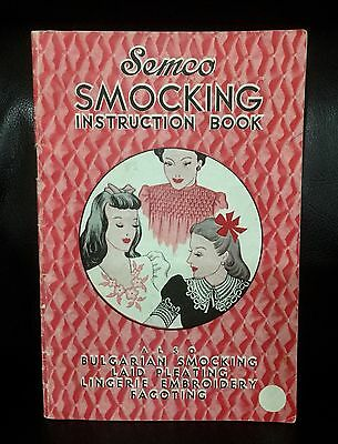 Vintage Semco Smocking Instruction Book - Embroidery, Pleating, Fagoting