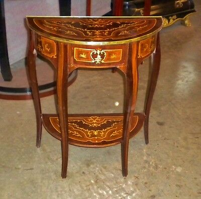 Stunning Brass and marquetry Louis XV Style console