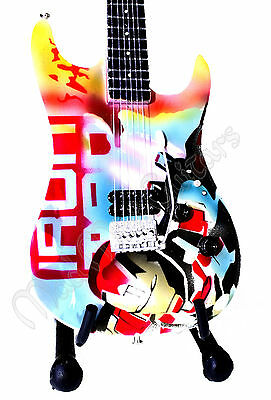 IRONMAN Miniature Guitar with stand.