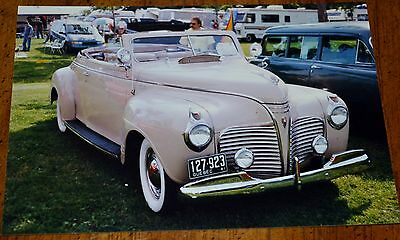 Photo 1941 Plymouth  Convertible In Granby Quebec Canada 1999 / Vintage American