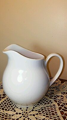 """6"""" Tall White Porcelain Pitcher Made in Brazil"""