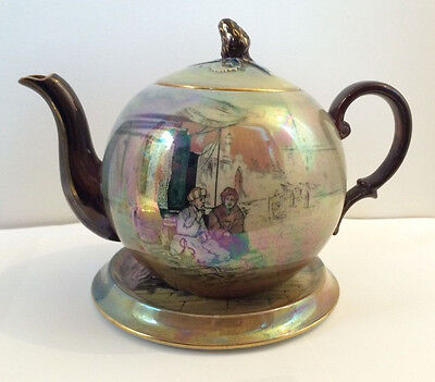 EXTREMELY RARE ROYAL WINTON GRIMWADES TEA POT AND STAND 1930's