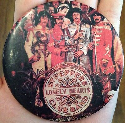 Rare! Vtg Beatles Sgt Peppers Lonely Hearts Club Band Button Pin