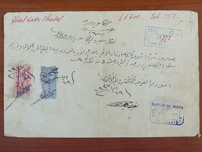Syria Alaouites Old Document With Revenue Stamps