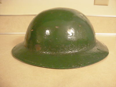 Vintage OLD WW1 British World War Helmet Project Authentic Refrb into Trench Art