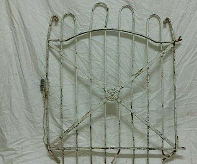 Antique hairpin gate vintage wrought iron fence architectural salvage garden