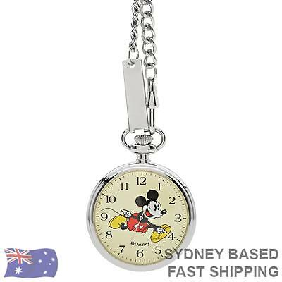 The Original Mickey Collection Silver Pocket Watch 48mm