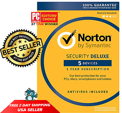 ✔NEW✔ 2017 Norton Security Deluxe 5 Devices - PC/MAC/Android/iOS [Key Card]