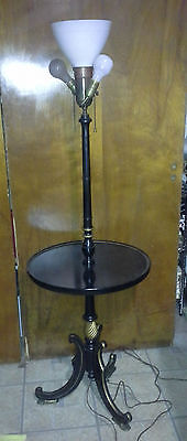Vintage Cooper / Stiffel French Empire Hitchock Colonial Style Table Floor lamp