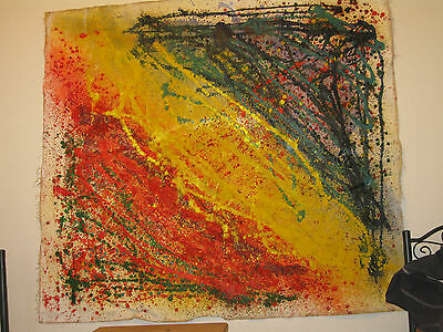 Jackson Pollock style Drip painting, Oil on canvas Signed by artist Original