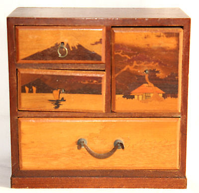 Antique/Vintage Japanese Miniature/Dollhouse Chest of Drawers/Jewelry Box