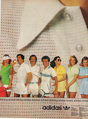 1975 Adidas Tennis Apparel Collection Print Advertisement (2 pages)