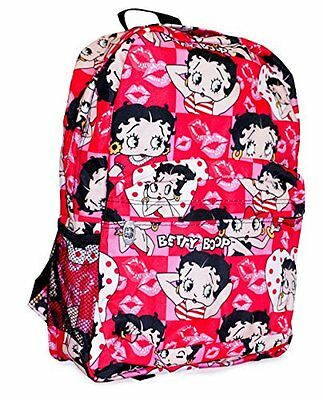 Betty Boop Backpack Collection, Lips - Pink...