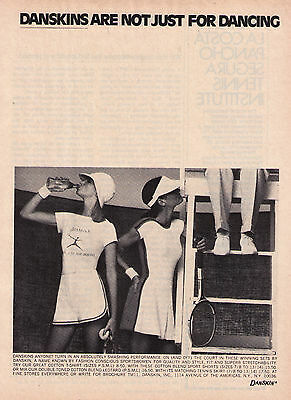 1975 Sexy Danskins Are Not Just For Dancing Tennis Collection Print Advert