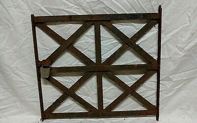 Antique window guard gate vintage wrought iron wall art gothic garden trellis