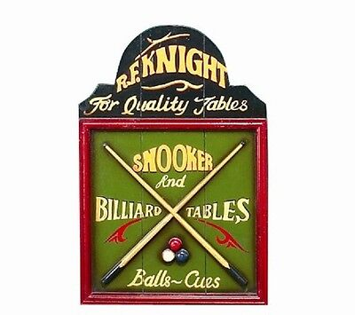 Ram R185 Wooden Billiard Pub Sign 3D Art with FREE shipping