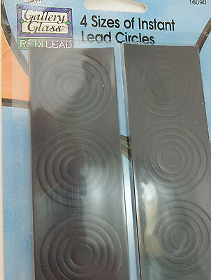 Gallery Glass Redi Lead Instant Lead Circles 4 Sizes Plaid