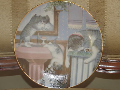 1988 Gru Gerardi Mischief Makers Country Kitties Collectible Plate Mint