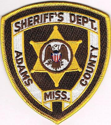 Adams County Sheriff Dept. Police Patch Mississippi MS NEW!!