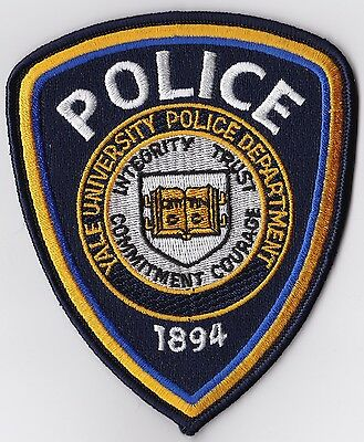 Yale University Police Patch Connecticut CT NEW!!