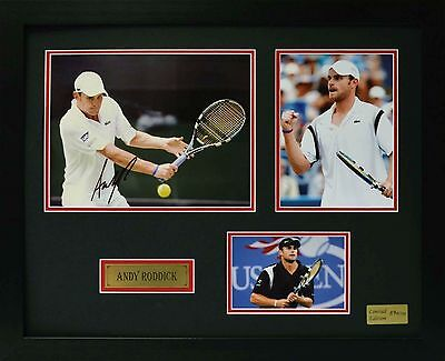 Andy Roddick Limited Edition Framed Signed Memorabilia