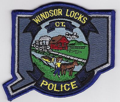 Windsor Locks Police Patch Connecticut CT NEW