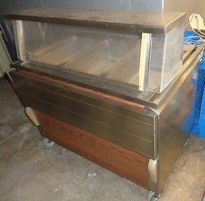 HOT FOOD SERVING BAR with 3 Steam Compartments.  LOCAL PICKUP ONLY
