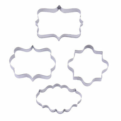 4PCS/Set Stainless Steel Cookie Biscuits Cutter Fondant Cake Mould Mold DIY