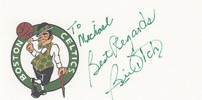 Coach Bill Fitch Boston Celtics 1980, 1981 NBA Champ SIGNED 3x5 CARD AUTOGRAPHED