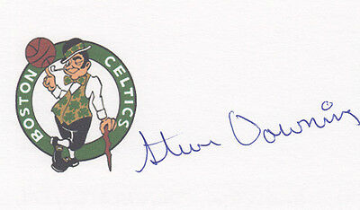 Steve Downing Boston Celtics 1974 NBA Champ SIGNED 3x5 CARD AUTOGRAPHED