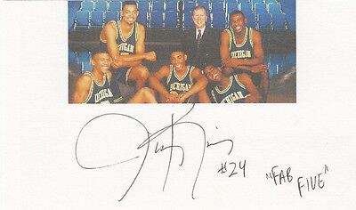 "Michigan ""The Fab Five"" member Jimmy King SIGNED 3x5 CARD AUTOGRAPHED"
