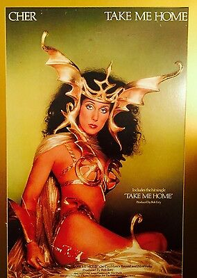 """Cher """"Take Me Home"""" Poster Matted And Framed"""