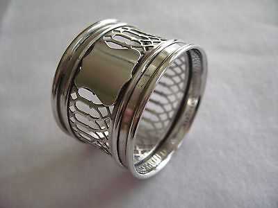 Antique Sterling Silver Pierced Napkin Ring by Birks of Canada - Circa 1900