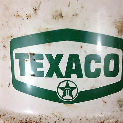 Vintage TEXACO 120 LBS. Oil Multigear Drum Barrel Gas Station Waste Garbage Can