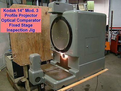 "Kodak 14"" Mod. 3 Profile Projector Optical Comparator Fixed Stage Inspection Jig"