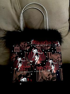 New Betty Boop Purse With Silver Handles & Wallet