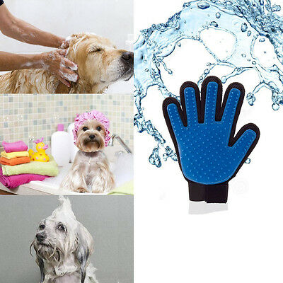 Dogs Cleaning Massage Comb Fur Remover Mitt Cat Bath Wash Grooming Glove Brush