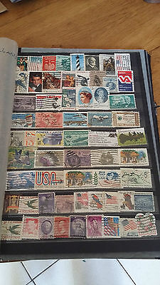 61 timbres USA (lot 13)