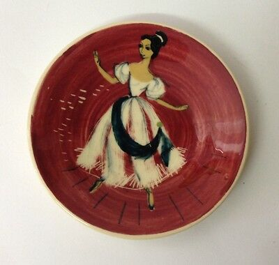 Martin Boyd Ballerina decorated small plate with hanger