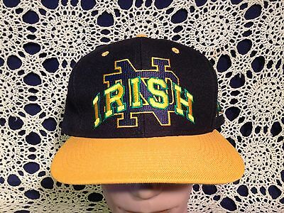 Vtg NCAA University of Notre Dame Fighting Irish Cardinal Cap sz 7 1/2 Hat Cap