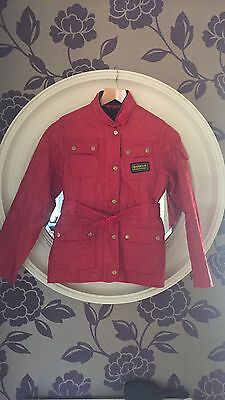 Red Girls Barbour Jacket