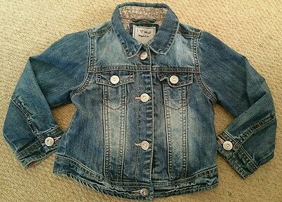 girls next denim jacket 2-3 years