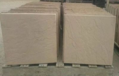 50 SAND BUFF CONCRETE RIVEN PAVING SLABS 450x450 DELIVERY INCLUDED