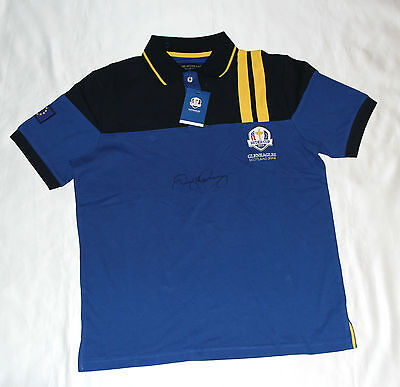 Rory McIlroy Signed 2014 Ryder Cup Shirt with COA